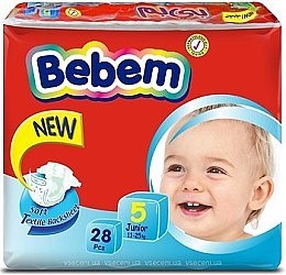 Підгузки Twin Pack 5 Junior, 11-25кг, 28шт. - Bebem