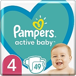 Подгузники Pampers Active Baby 4 (9-14 кг), 49шт - Pampers