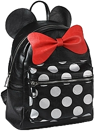 Рюкзак Casual Fashion Faux-Leather Minnie Mouse Black Backpack - Cerda