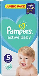 Подгузники Pampers Active Baby 5 (11-16 кг), 60шт - Pampers