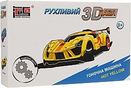 "Заводной 3D пазл ""Гоночная машина. Hot Yellow"" - Hope Winning"