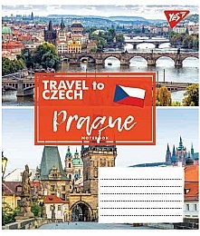 "Тетрадь ""Travel To Europe"" 24 листа, в клетку, Prague - Yes"