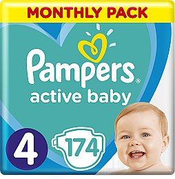 Подгузники Pampers Active Baby 4 (9-14 кг), 174шт - Pampers