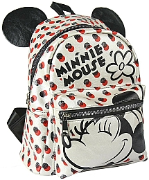 Рюкзак Casual Fashion Faux-Leather White Minnie Mouse Backpack - Cerda