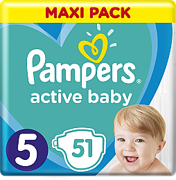 Подгузники Pampers Active Baby 5 (11-16 кг), 51 шт. - Pampers