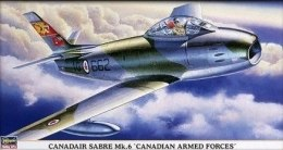"Самолет Canadair Sabre Mk.6 ""Canadian Armed Forces"", 1:48 - Hasegawa"