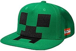 Кепка Minecraft Creeper Mob Hat Applique, Green Youth - Minecraft Jinx