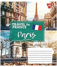 "Тетрадь ""Travel To Europe"" 18 листов, в линию, Paris - Yes"