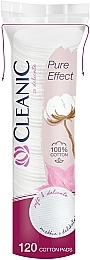 """Диски ватні косметичні """"Pure Effect"""", 120 шт. - Cleanic Face Care Cotton Pads"""