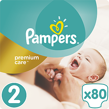 Подгузники Pampers Premium Care Mini (3-6 кг), Эконом 80шт - Pampers  — фото N1