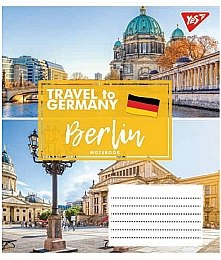 "Тетрадь ""Travel To Europe"" 18 листов, в линию, Berlin - Yes"