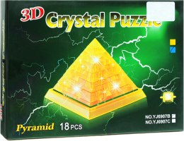 "3D пазлы ""Пирамида"", брелок, 18 деталей - Crystal Puzzle"