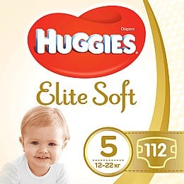 "Подгузники ""Elite Soft"" 5 (12-22кг, 112 шт) Box - Huggies"