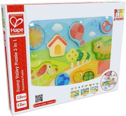 """Пазлы """"Sunny Valley Puzzle 3 in 1"""" - Hape"""