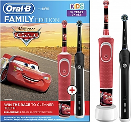 Набір - Oral-B Braun Pro 750 & Kids Cars Family Edition (tooth/brush/2pcs)