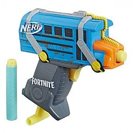 "Мощный бластер ""NERF Microshots Fortnite"", Battle Bus - Hasbro"
