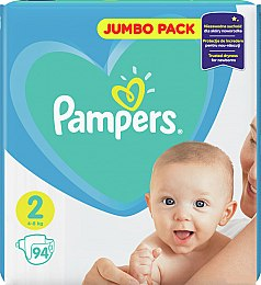 Подгузники Pampers New Baby 2 (4-8 кг), 94шт - Pampers