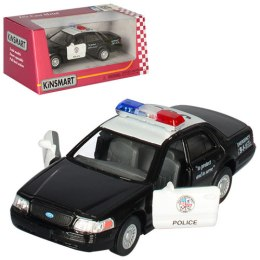 Модель машины Ford Crown Victoria Police, 1:42, черно-белая - Kinsmart