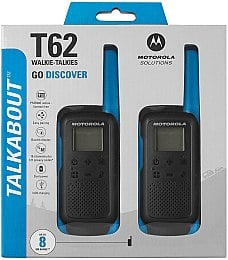 Рация Talkabout T62 Twin Pack&ChgrWE, Blue - Motorola