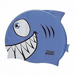 "Шапочка для плавания ""Junior Character Silicone Cap"", Blue Jaws - Zoggs"