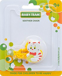 "Цепочка для пустышки ""Soother Chain"", кот - Baby Team"