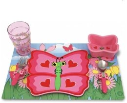 "Набор посуды ""Bella Butterfly Mealtime Set MD6576"" - Melissa&Doug"