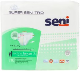 Подгузники Super Seni Trio Extra Large 4, 10 шт - Seni