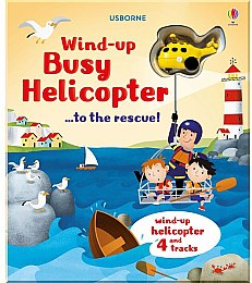 "Детская книга-игрушка ""Wind-up Busy Helicopter ...to the Rescue!"" (англ.) - Usborne Publishing Ltd"