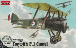 Биплан Sopwith F.I Camel (w/ Bentley), 1:72 - Roden