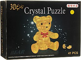 """3D пазл """"Ведмежатко"""", 41 елемент, жовтий - Crystal Puzzle"""