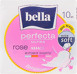 Прокладки Perfecta Rose Deo Fresh Drai Ultra, 10шт - Bella