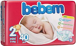 Підгузки Twin Pack 2 Mini, 3-6кг, 40шт. - Bebem