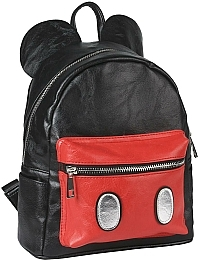 Рюкзак Casual Fashion Faux-Leather Mickey Mouse Black Backpack - Cerda