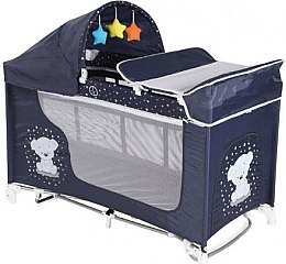 "Манеж ""Moonlight 2L Rocker"", Dark blue teddy bear - Bertoni/Lorelli"