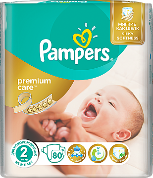 Подгузники Pampers Premium Care Mini (3-6 кг), Эконом 80шт - Pampers  — фото N2
