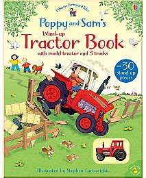 "Детская книга-игрушка ""Poppy and Sam's Wind-up Tractor Book"" (англ.) - Usborne Publishing Ltd"