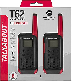 Рация Talkabout T62 Twin Pack&ChgrWE, Red - Motorola