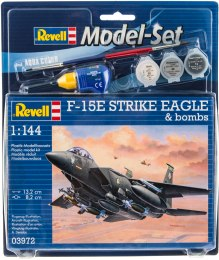 Model Set Истребитель F-15E STRIKE EAGLE & bombs 1:144, 4 уровень - Revell