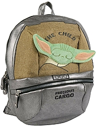 Рюкзак Mandalorian The Child Silver Casual Fashion Faux-Leather Backpack - Cerda