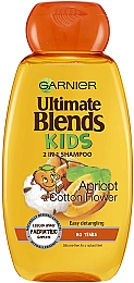 Шампунь детский - Garnier Ultimate Blends Kids Shampoo Apricot And Cotton Flower
