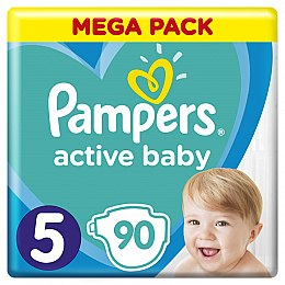 Подгузники Pampers Active Baby 5 (11-16 кг), 90шт - Pampers
