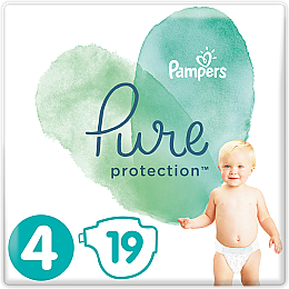 Подгузники Pampers Pure Protection 4 (9-14 кг), 19 шт - Pampers