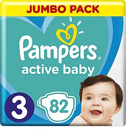 Подгузники Pampers Active Baby 3 (6-10 кг), 82шт - Pampers