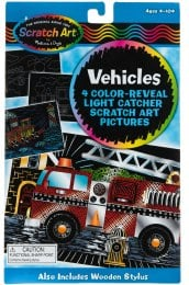 "Vehicles Color Reveal Light Catcher Набор царапок ""Транспорт"" - Melissa&Doug"