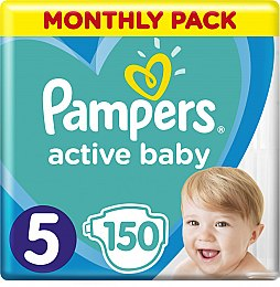 Подгузники Pampers Active Baby 5 (11-16 кг), 150шт - Pampers