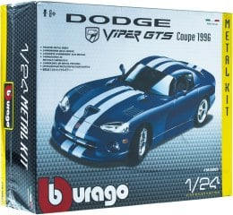 Авто-конструктор Dodge Viper GTS coupe (1996), синий - Bburago