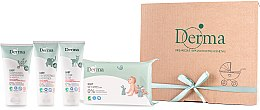 Набір - Derma Eco Baby (cr/100ml+cr/100ml+shm/150ml+wipe/64)