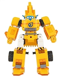 Трансформер Small Blocks 2-in-1 Buildable Transforming Vehicle Donnie - Super Wings Auldey